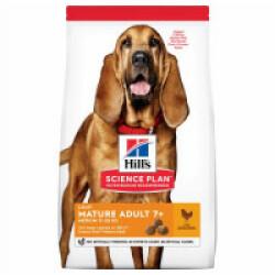 Croquettes pour chien mature Light Hill's Science Plan Poulet Sac 14 kg