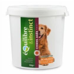Croquettes pour chien Senior Equilibre & Instinct volaille fraîche - Seau 14 kg