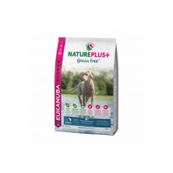 Croquettes pour chiot et chien junior sans céréales Eukanuba Natureplus saumon Sac 10 kg