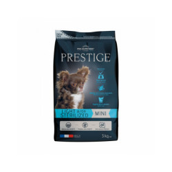 Croquettes Prestige mini adulte Light & Sterilized Flatazor Pro Nutrition pour chien de petite race Sac 3 kg