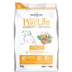 Croquettes sans céréales pour chats stérilisés Pure Life Pro Nutrition Flatazor Sac 2 kg