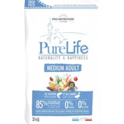 Croquettes sans céréales pour chien Medium Adult Pure Life Flatazor Pro Nutrition Sac 2 kg