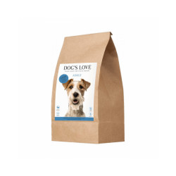 Croquettes sans céréales Dog's Love au saumon pour chien - Sac 2 kg