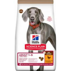Croquettes sans céréales Hill's pour chien adulte de grande race au Poulet - Sac 14 kg