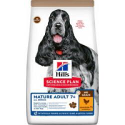 Croquettes sans céréales Hill's pour chien Mature au Poulet - Sac 14 kg