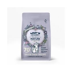 Croquettes sans céréales pour chat senior au poisson Lily's Kitchen Sac 800 g