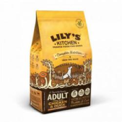 Croquettes sans céréales pour chien adulte au poulet et canard Lily's Kitchen Sac 7 kg