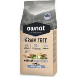 Croquettes sans céréales pour chien adulte Ownat Just Grain Free Sac 14 kg