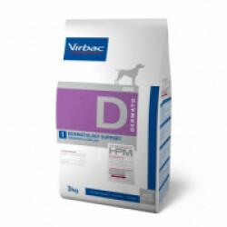 Croquettes Virbac pour chien Veterinary HPM Dermatology support Sac 3 kg