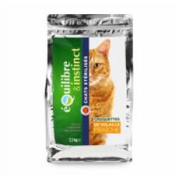 Croquettes volaille fraîche Equilibre & Instinct pour chat Stérilisé