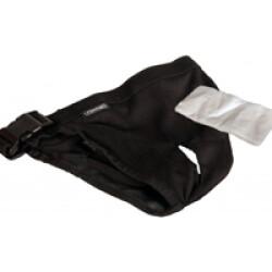 Culotte périodique pour chienne Jolly Flamingo noire Taille 0