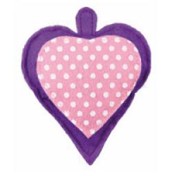 Coeur en tissu à la valériane avec clochette pour chat