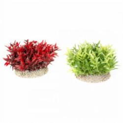 Décoration pour aquarium buisson coloré en plastique flexible vendue à l'unité - hauteur 7,5 cm
