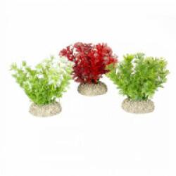 Décoration pour aquarium buisson dense coloré en plastique vendue à l'unité - Rouge/Vert