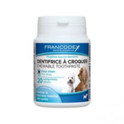 Dentifrice à croquer Francodex - 20 comprimés