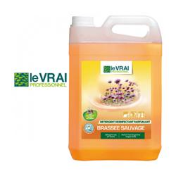 Détergent parfumant Le Vrai Professionnel pour élevage d'animaux domestiques Brassée Sauvage 5 litres senteur Florale