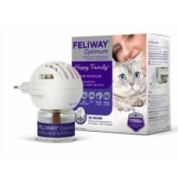 Diffuseur de phéromones FELIWAY Optimum pour chat - Kit complet diffuseur + recharge 48 mL