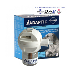 Diffuseur phéromone Adaptil apaisante pour chien avec recharge 48 ml