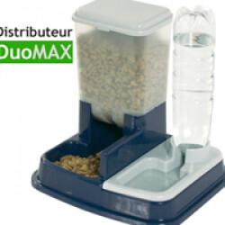 Distributeur de croquettes et eau Duo Max pour chien et chat