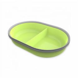 Écuelle 2 compartiments de 160 ml verte pour distributeur Surefeed
