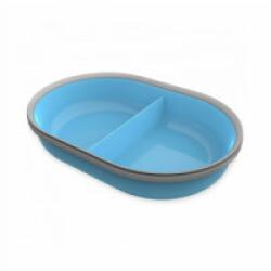 Écuelle 2 compartiments de 160 ml bleu pour distributeur Surefeed