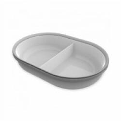 Écuelle 2 compartiments de 160 ml gris pour distributeur Surefeed