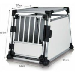Cage de transport en voiture pour 1 ou 2 chiens Dog Box Autolux™ T270