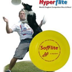 Dogfrisbee d'initiation Sofflite pour chien 18 cm 70 gr Jaune