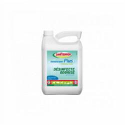 Désinfectant d'extérieur Saniterpen Plus Fraîcheur Verte Bidon 5 litres