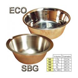 Ecuelle eau & croquette chien & chat inox simple N1 1,5 Litres