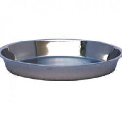 Écuelle plate Ø 35cm Eco inox pour portée de chiots et chatons