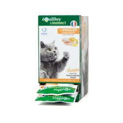 """Effilés """"Energie"""" au poulet Equilibre et Instinct pour chat stérilisé - Lot de 12 sachets fraîcheur 85G"""