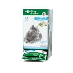 """Effilés """"Sérénité"""" à la truite Equilibre et Instinct pour chat stérilisé - Lot de 12 sachets fraîcheur 85G"""