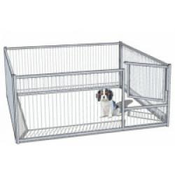 Enclos pour chiot à barreaux avec porte Small - 1 x 0,97 m
