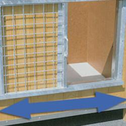Fermeture coulissante pour niche en bois et CPRS
