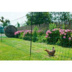 Filet poules 50 m simple pointe AKO vert Hauteur 112 cm