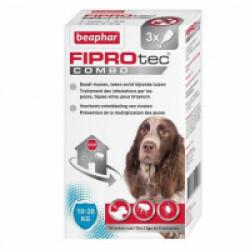 FIPROTEC COMBO pipettes anti puces, tiques et poux broyeurs - pour chiens de taille moyenne (10-20 kg)  3 x 1,34 ml