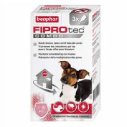 FIPROTEC COMBO pipettes anti puces, tiques et poux broyeurs - pour petits chiens (2-10 kg) 3 x 0,67 ml