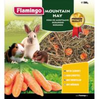 Foin de montagne avec carottes Flamingo Sachet 500 g