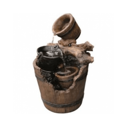 Fontaine de Jardin Portland Ubbink imitation bois et fer