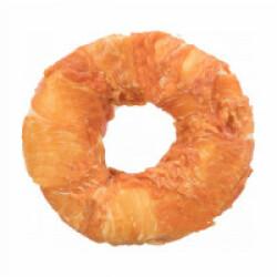 Friandise Donut poulet fourré au boeuf pour chien diamètre 11 cm - 65 g