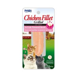 Friandise pour chat Inaba filet de poulet et crabe - 25 g