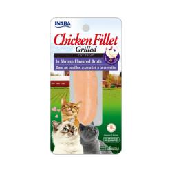 Friandise pour chat Inaba filet de poulet et crevette - 25 g