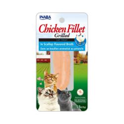 Friandise pour chat Inaba filet de poulet et pétoncle - 25 g