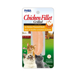 Friandise pour chat Inaba filet de poulet nature - 25 g