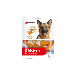 Friandise pour chien Chick'n Snack Calcium Bone Flamingo Contenance 400 g - lot de 2