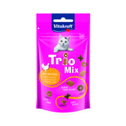 Friandises croquantes pour chat Vitakraft Trio Mix Volaille 60 g
