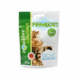 Friandises Equilibre & Instinct pour chat adulte au poisson - sachet 60 g