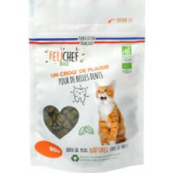 Friandises Felichef Bio pour hygiène dentaire du chat - Sachet de 80g