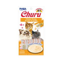 Friandises liquides pour chat Churu crème au poulet -  4 tubes de 14g